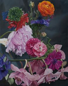 Series Flowers · Oil on canvas · 50 x 40 cm · 2016