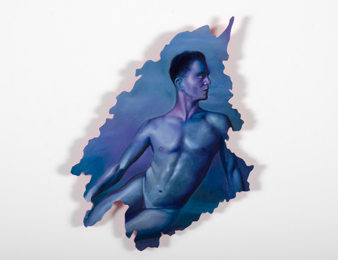 Serie Sireno · Óleo sobre mdf · 30 x 22 cm · 2020