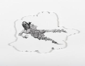 Series Sireno · Oil and graphite on mdf · 19 x 32 cm · 2020