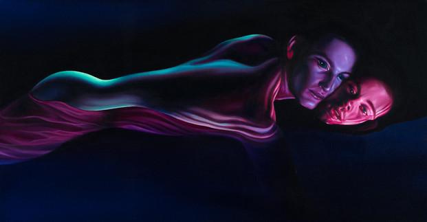 Serie Sireno · Óleo sobre tela · 65,5 x 34 cm · 2020