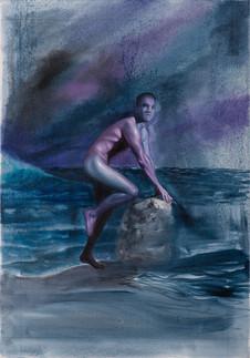 Serie Sireno · Óleo sobre tela · 49 x 34 cm · 2019
