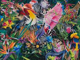 Paradise found · Óleo sobre tela · 150 x 200 cm · 2019