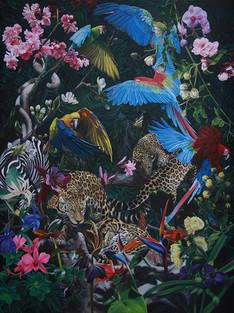 Serie Paraíso encontrado · Óleo sobre tela · 200 x 150 cm · 2015