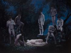La naturaleza del bestiario I · Óleo sobre tela · 150 x 200 cm · 2013