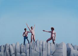 Juego de niños · Óleo sobre tela · 50 x 70 cm · 2019