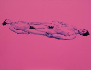 Gabriel y Gonzalo · Óleo sobre tela · 40 x 50 cm · 2017