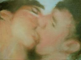 Beso · Óleo sobre tela · 29 x 36 cm · 2007