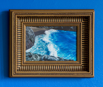 Series Sireno · Framed oil on mdf · 25 x 32 cm · 2018