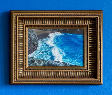 Serie Sireno · Óleo sobre mdf enmarcado · 25 x 32 cm · 2018