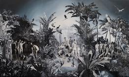 El patio de José · Óleo sobre tela · 300 x 486 cm · 2014