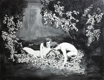 Oil and graphite on paper · 50 x 65 cm · 2013