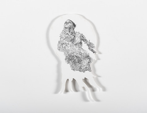 Serie Sireno · Óleo y grafito sobre mdf · 14 x 26 cm · 2020