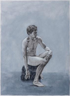 Diego Mancilla · Oil and graphite on paper · 41 x 30 cm · 2017