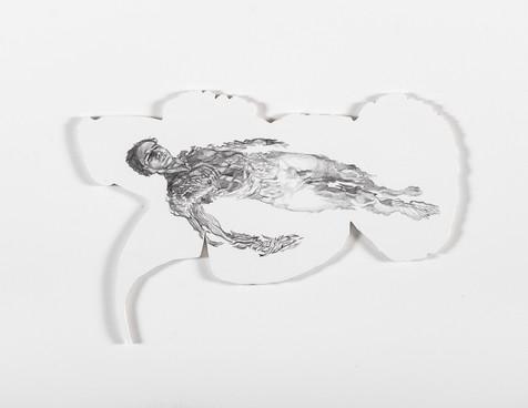 Serie Sireno · Óleo y grafito sobre mdf · 21 x 31 cm · 2020