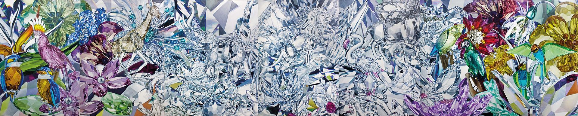Safari · Óleo sobre tela · 220 x 1050 cm · 2009
