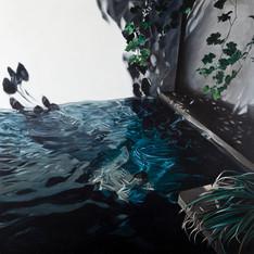El baño · Óleo sobre tela · 170 x 170 cm · 2013