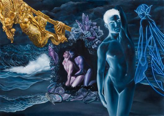 Serie Sireno · Óleo sobre tela · 45,5 x 64,5 cm · 2019