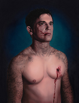 Xavier · Óleo sobre tela · 65 x 50 cm · 2016