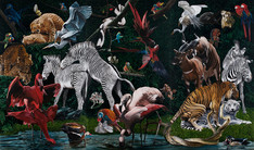 El Triunfo del Amor · Óleo sobre tela · 300 x 501 cm · 2012