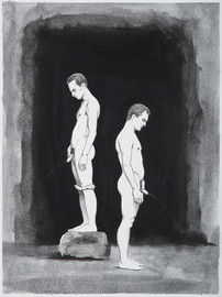 Oil and graphite on paper · 32 x 24 cm · 2017