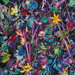 Flowers · Oil on canvas · 120 x 120 cm · 2019