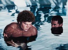 Los bañistas II · Óleo sobre tela · 60 x 80 cm · 2013