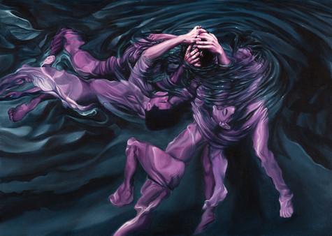 Serie Sireno · Óleo sobre tela · 65,5 x 46,5 cm · 2020