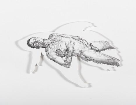 Serie Sireno · Óleo y grafito sobre mdf · 20 x 30 cm · 2020