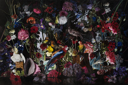 Naturaleza muerta · Óleo sobre tela · 200 x 300 cm · 2016