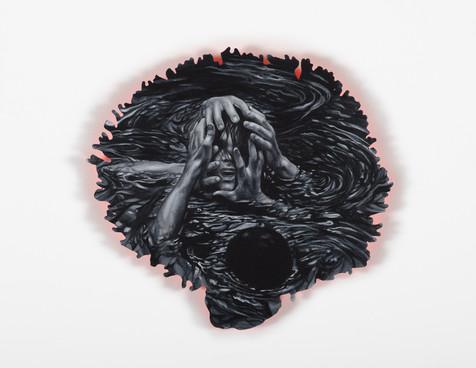 Serie Sireno · Óleo y grafito sobre mdf · 22 x 24 cm · 2020