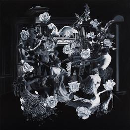 Animales salvajes · Óleo sobre tela · 170 x 170 cm · 2016
