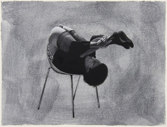 Óleo y grafito sobre papel · 24 x 32 cm · 2019