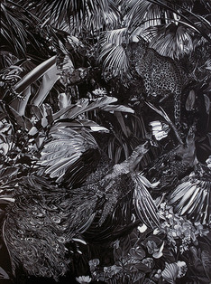 Serie Paraíso encontrado · Óleo sobre tela · 200 x 150 cm · 2013