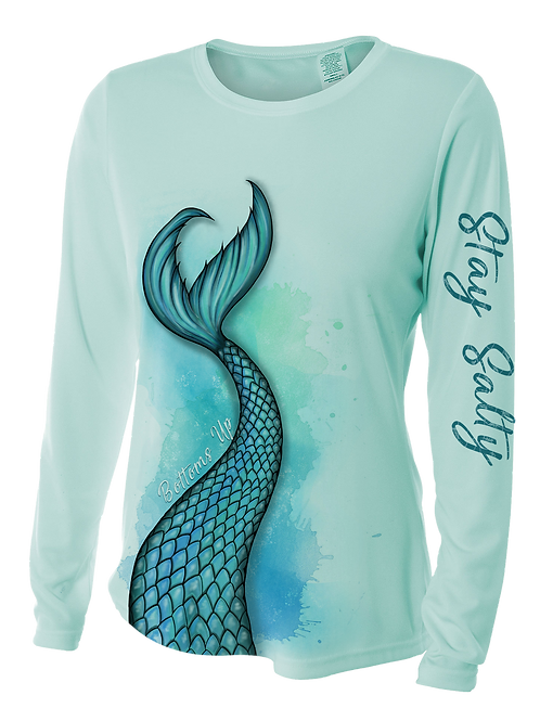 MERMAID TAIL-BLUE VERSION-PERFORMANCE LONG SLEEVE