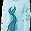 Thumbnail: MERMAID TAIL-BLUE VERSION-PERFORMANCE LONG SLEEVE