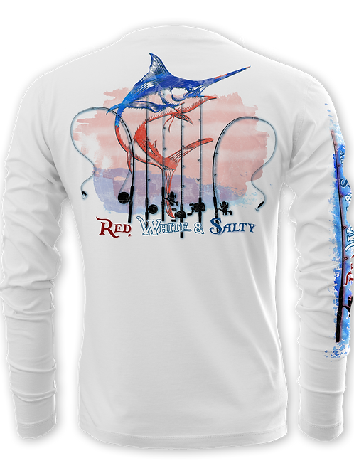 RED, WHITE & SALTY-PERFORMANCE LONG SLEEVE