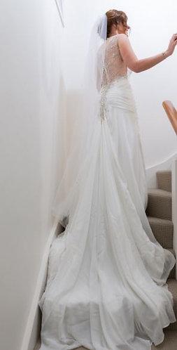 White Satin Gown Size 8-10