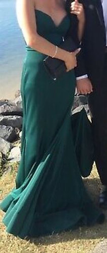Emerald Green size 8-10 Formal Gown