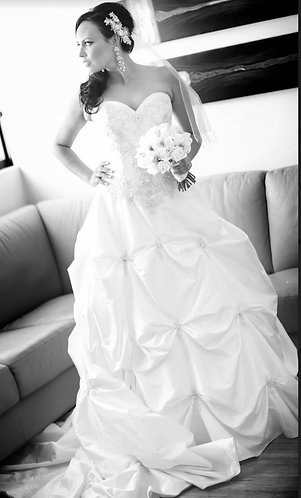 Sweetheart Gown- Custom Ivory Size 8-10