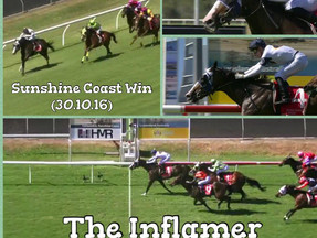 The Inflamer on fire at the Sunshine Coast