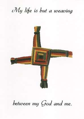 My life is but a weaving - St Brigid's Cross WE1