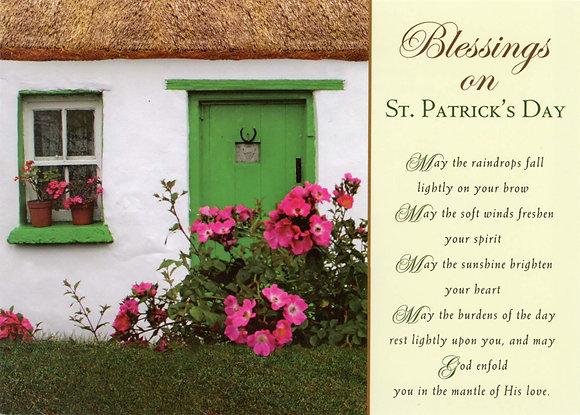 Blessings on St Patrick's Day - With Novena SP-15A