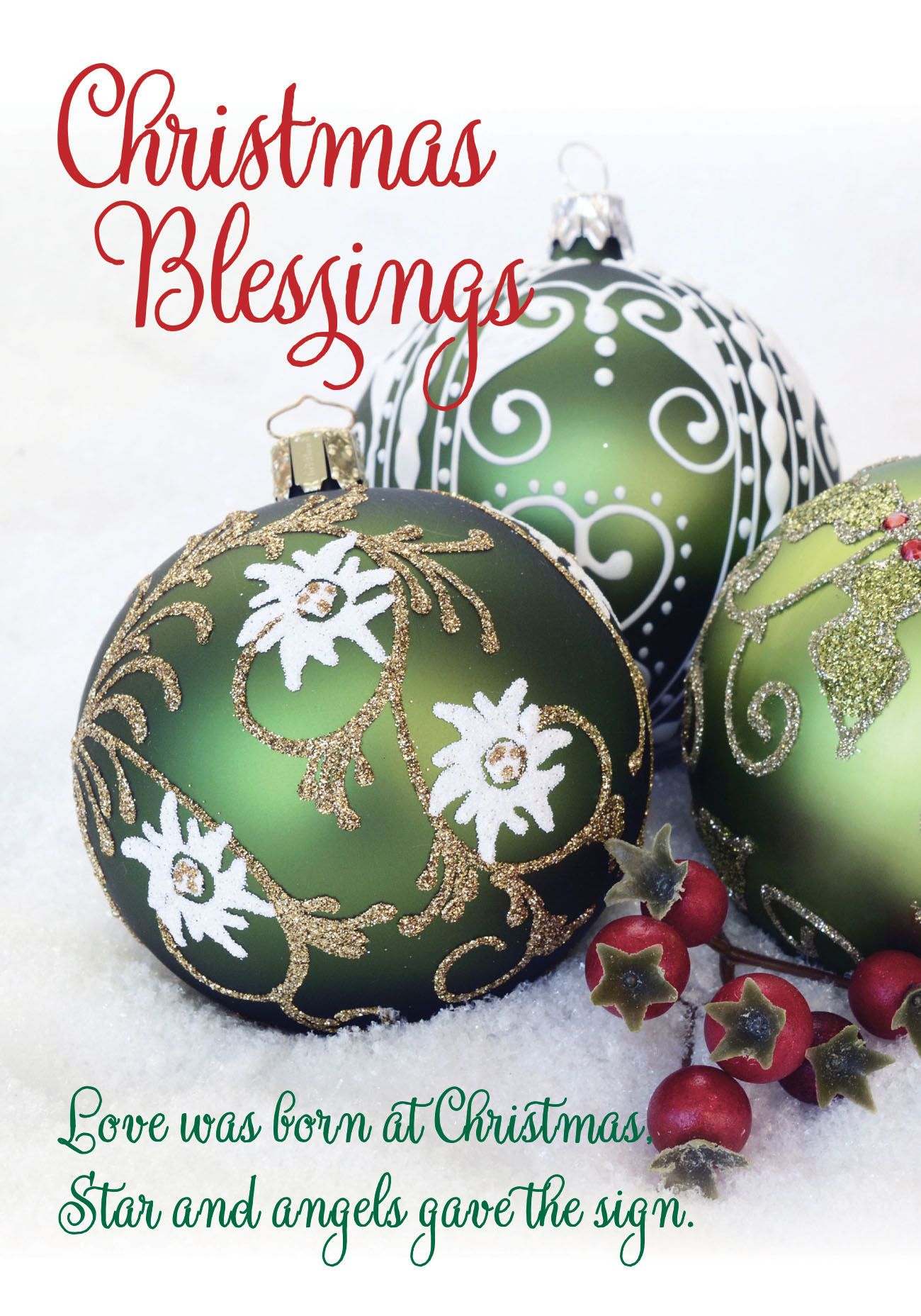 Christmas Blessings, Green Baubles