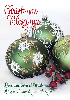 Christmas Blessings - Green Baubles