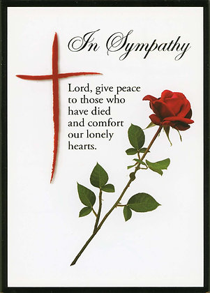 In Sympathy - Red Cross and Rose M18