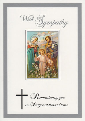 With Sympathy Holy Family