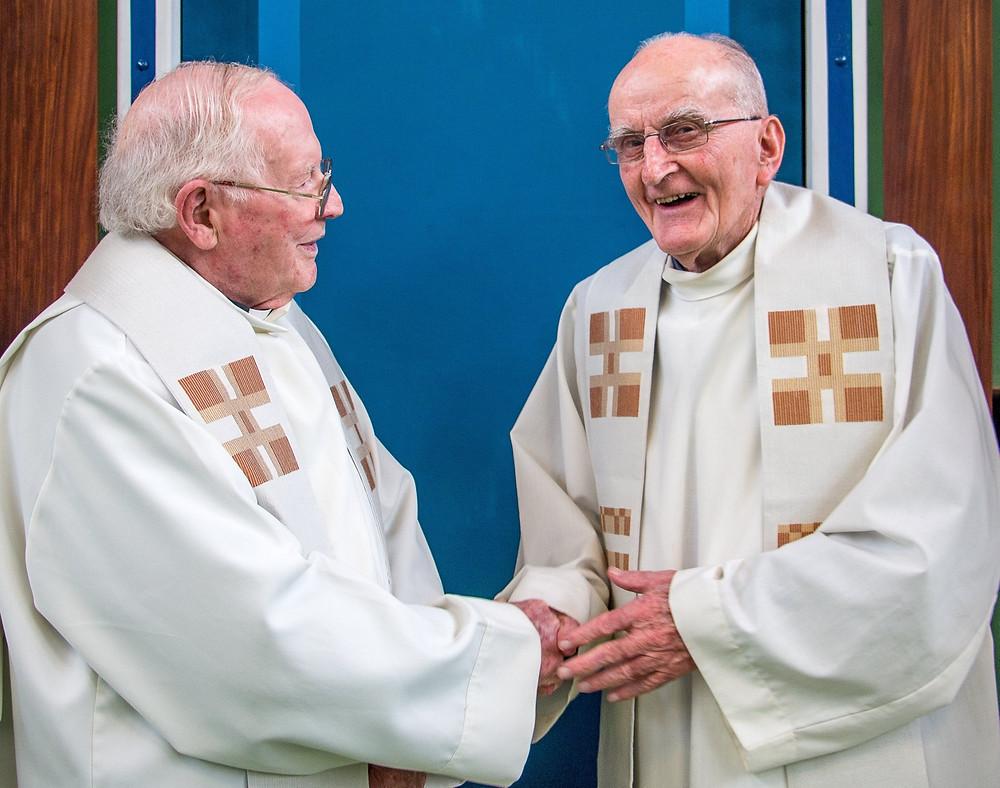 Fr Denis O'Rourke, Fr Tom Kiggins, Fr Peter Coyle, Fr Fintan McDonald, Fr John P Carroll, Fr Gregory McManus, Fr Peter Coyle and Fintan McDonald.