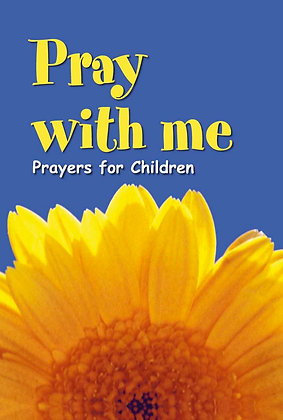 Fold out selection of prayers for Children.