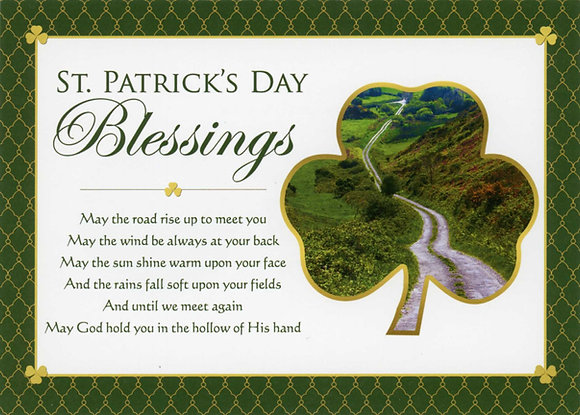 St Patrick's Day Blessings - With Novena SP-17B