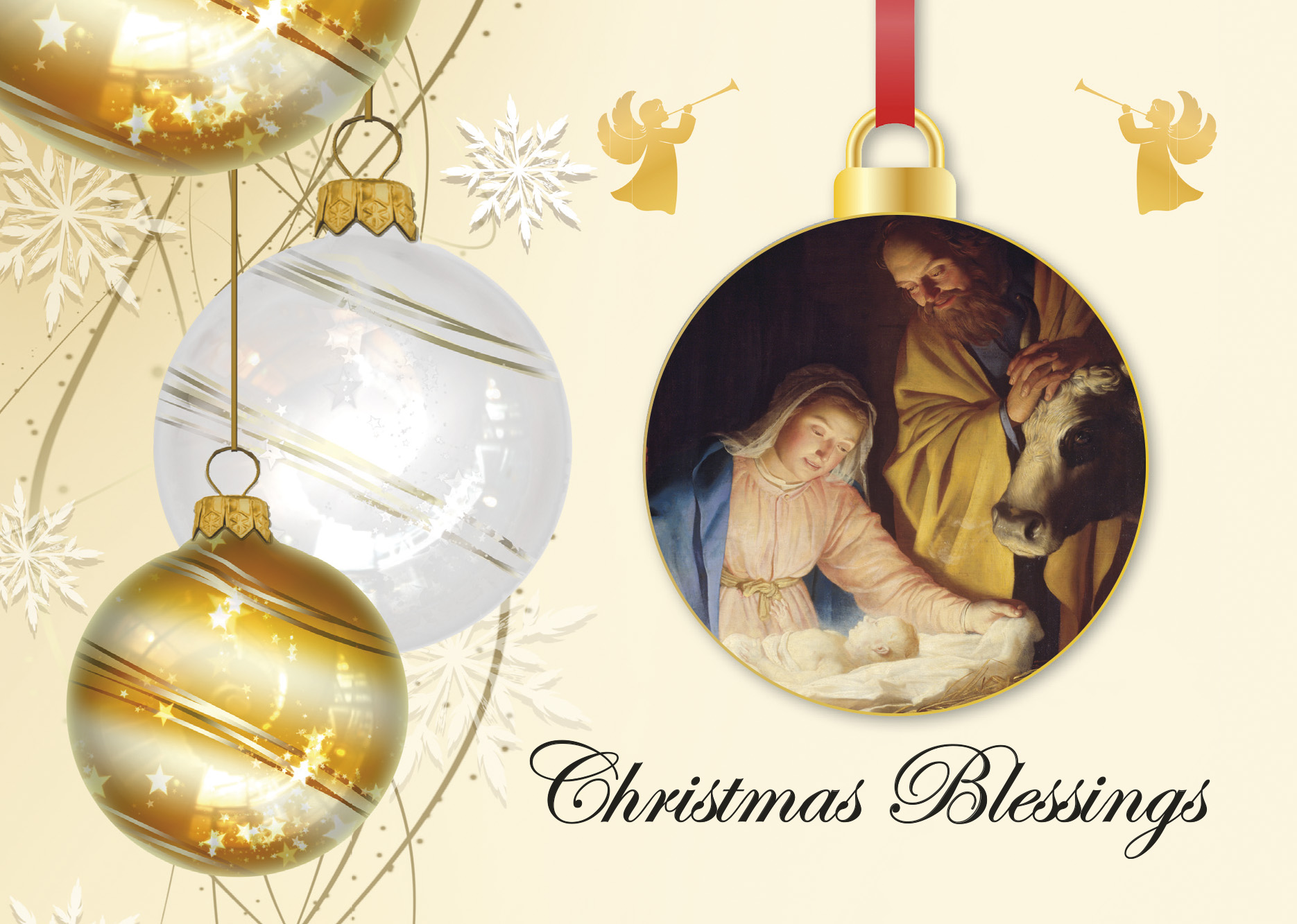 New!- Christmas Blessings Baubles